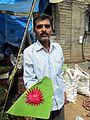 Decoration on beetroot by a vendor at Mahatma Phule Mandai.jpg