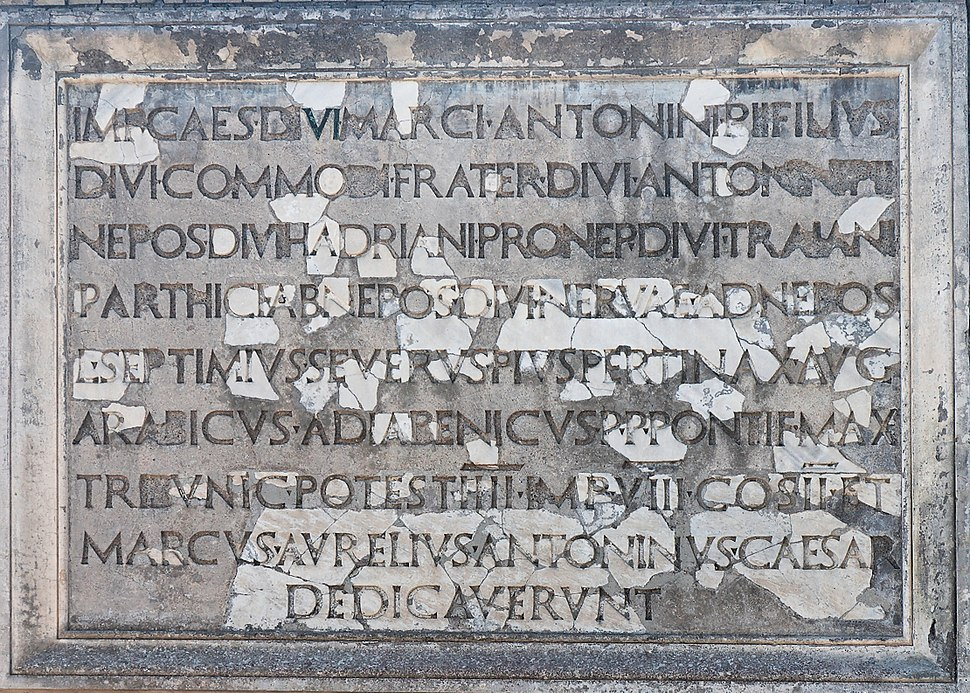 Dedicatory inscription Ostia Antica 2006-09-08