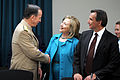 Defense.gov News Photo 110429-D-XH843-006 - Secretary of State Hillary Clinton greets Chairman of the Joint Chiefs of Staff Adm. Mike Mullen at the start of the U.S. Mexico High Level.jpg