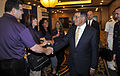 Defense.gov News Photo 120627-D-NI589-261 - Secretary of Defense Leon E. Panetta greets attendees at the Military Child Education Coalition convention at the Military Child Education Coalition.jpg