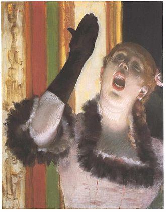The Concert Singer - Image: Degas Cafekonzert Sängerin mit Handschuh