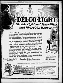 1920s Print Delco-Light Advertisement