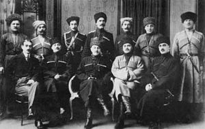 Delegation of representatives of the Mountain Republic (1920).jpg