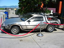 La DeLorean DMC-12 utilizzata nel film come macchina del tempo.