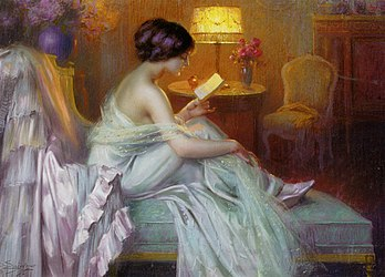 Delphin Enjolras - Reading at lamp light.jpg