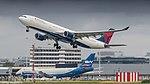 Delta A330-300 leaving Amsterdam for Minneapolis (35791090341).jpg