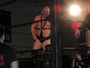 Smash (wrestler) - Darsow as Demolition Smash at a Jersey All Pro Wrestling show in 2009.