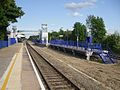 Denham station eastbound platform look east.JPG