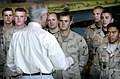 Deputy Secretary of Defense Gordon R. England speaks to airmen of the 455th Air Expeditionary Wing.jpg