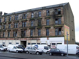 Glasgow effect - Derelict tenement housing, Paisley Road West, 2008, later demolished