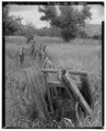 Detail of fence to west of milk house looking north. - Price Ranch, White Bird, Idaho County, ID HABS ID,25-WHIBI.V,1-17.tif
