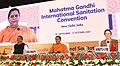 Devendra Fadnavis and the Executive Director, UNICEF, Ms. Henrietta H. Fore at the Plenary Session - Swachh Bharat and the SDGs, during the Mahatma Gandhi International Sanitation Convention, in New Delhi.JPG