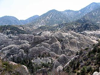 Devil's Punchbowl (Angeles National Forest) - A section of Devil's Punchbowl.