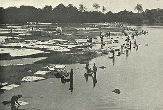 Dhobi - Dhobies at work at Saidape, c. 1905