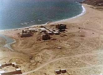 Dhofar Rebellion - British Base at Mirbat which was a site of the hard-fought Battle of Mirbat