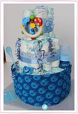 regali per battesimo - torta di pannolini