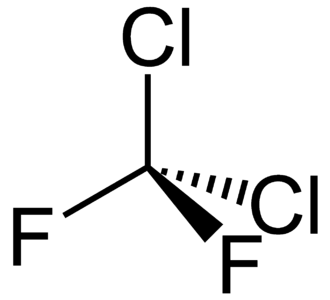 Dichlorodifluoromethane - Image: Dichlorodifluorometh ane