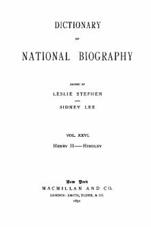 Dictionary of National Biography volume 26.djvu