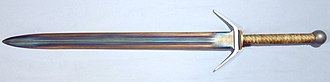 Tempering (metallurgy) - A differentially tempered sword. The center is tempered to a springy hardness while the edges are tempered slightly harder than a hammer.