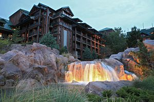 Disney's Wilderness Lodge - Disney's Wilderness Lodge at dusk