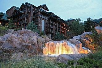 Disney's Wilderness Lodge - Disney's Wilderness Lodge at dusk