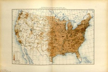 Distribution of US Rural Population during 1910