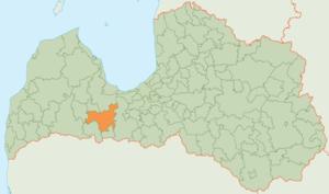 Dobele Municipality - Image: Dobeles novads karte