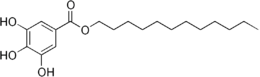 Skeletal formula of dodecyl gallate