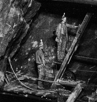 Dolcoath mine - The man engine of Dolcoath mine