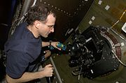 Don pettit operates barn door tracker aboard ISS