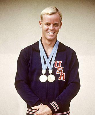 Don McKenzie (swimmer) - McKenzie wearing 1968 Olympic gold medals