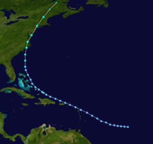 Tropical Storm Doria - Image: Doria 1971 track