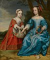 Double Portrait of Prince Willem III (1650- 1702) and his Aunt Maria, Princess of Orange (1642-1688), as Children by Gerard van Honthorst Mauritshuis 64.jpg