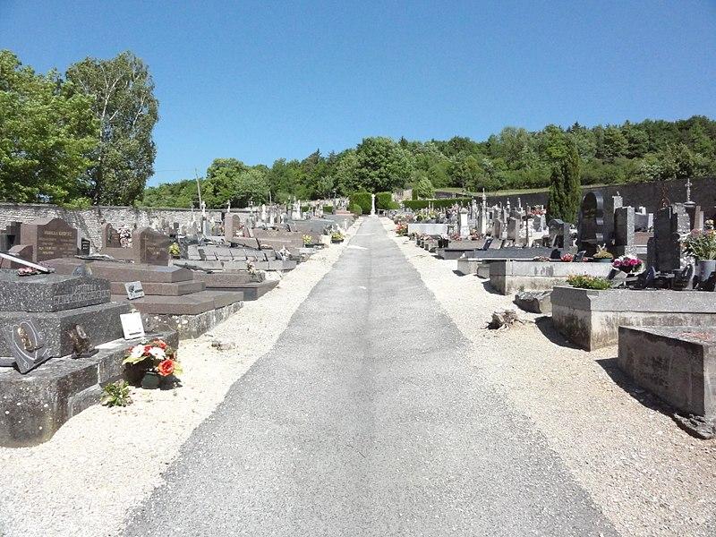 Doulaincourt, cimetière, vue d'ensemble