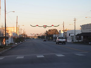 Karnes City, Texas - Downtown Karnes City near dusk