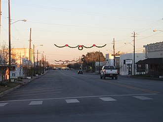 Karnes City, Texas - Downtown Karnes City near dusk