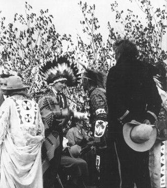 "R. G. Ferguson - Dr. R.G. Ferguson, May 1935, Muskeke-O-Kemacan Ketche-na-na-ta we wayo, - ""Great White Medicine Man"""