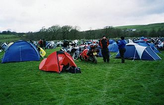 Dragon Rally - The 2005 hill farm rally site by day