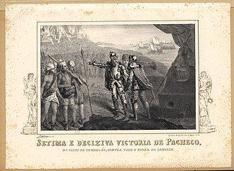 Battle of Cochin (1504) - Duarte Pacheco's seventh and final victory over the Zamorin (1840 lithograph)
