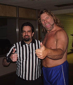 Picture of myself with Hacksaw Jim Duggan. Thi...