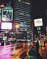 Dundas Square - 'Not all those who wander are lost' -Toronto -downtown -yongedundassquare -dundas -citylights -reflections -Cineplex (24093367430).jpg