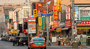 Chinese Canadians in the Greater Toronto Area - Chinese signs along Dundas Street in the Toronto Chinatown