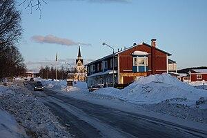 Duved, Sweden - Image: Duved 2009 03 03 dusk