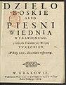 Dzielo Boskie albo piesni Wiednia wybawionego y inszych transakcyey woyny tvreckiey w roku 1683 szczesliwie rozpoczetey 1684 (105259694).jpg