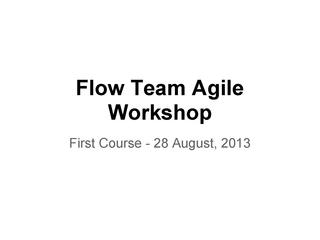 E2-Flow Agile Trainings - First Course