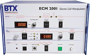 Somatic cell nuclear transfer - BTX ECM 2001 Electrofusion generator used for SCNT and Cloning applications