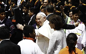 Morning offering - Pope Francis reaching out
