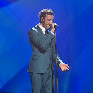 Italy in the Eurovision Song Contest 2013 - Marco Mengoni at the final dress rehearsal in Malmö.