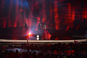 San Marino in the Eurovision Song Contest 2013 - Valentina Monetta at the second semi-final dress rehearsal in Malmö