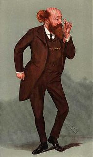 "Newton Wallop, 6th Earl of Portsmouth - ""The Demon"", Newton Wallop, 6th Earl of Portsmouth, caricature by Spy, Vanity Fair Magazine 21 August 1907"